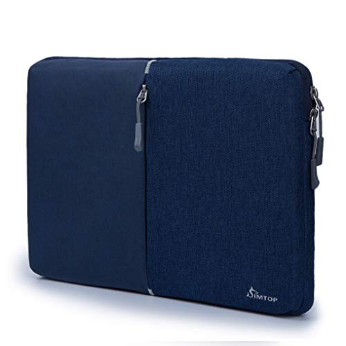 SIMTOP 360° Protective laptop Sleeve Compatible with 2018 New MacBook Air 13 inch Model A1932 and 2016/2017/2018 MacBook Pro 13' A1989 A1706 A1708 A2159 (Blue-13in)