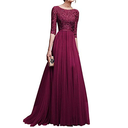 Tulle Prom Chiffon 220 Dresses Gown Elegant Sleeves Bridesmaid Womens Women's Lace Maxi Cocktail Wedding Vintage Long Floral Ball moonuy Evening UVLqGzMpS