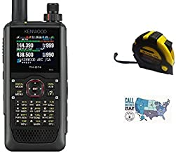 Bundle - 3 Items - Includes Kenwood TH-D74A 144/220/430MHz Tribander Digital Handheld w/APRS & D-Star with The New Radiowavz Antenna Tape (2m - 30m) and HAM Guides Quick Reference Card