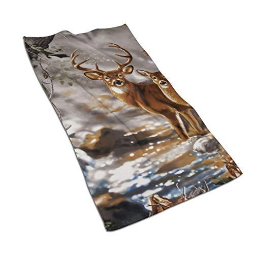 WH-CLA Toallas De Baño Real Tree Camouflage Deer Secado Rápido Unisex Adulto Suave 80X130Cm Toalla De Playa Reutilizable Acogedora Duradera Personalizada Premium Toalla De Piscina Toalla