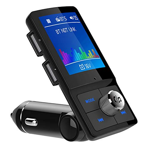 LGGQDC FM Transmitter Bluetooth para automóvil Receptor de Audio Bluetooth Transmisor FM Manos Libres TF U Disco QC Carga rápida Reproductor de música MP3 Adaptador Cargador