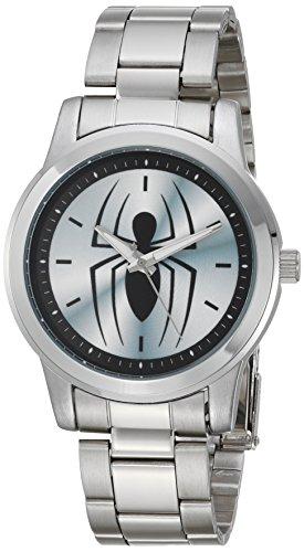 Marvel Reloj analógico para Hombres de Cuarzo con Correa en Acero Inoxidable WMA000209