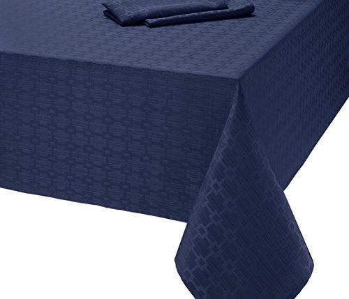 Bardwil Chandler 60'x84' Oblong Tablecloth, Navy