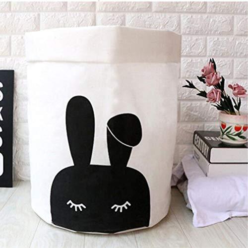 FBXYL Modieuze mooie katoenen linnen wasmand voor vuile kleding waterdicht vouwen speelgoed opslagorganisator