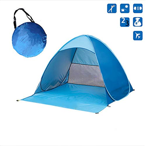 Asolym Pop Up Beach Tent 2-3 Outdoor Automatic Pop up Instant Tent Automatic Sun Shelter UV Protection Windproof for Outdoor Camping Fishing Picnic 155X165X110CM,A