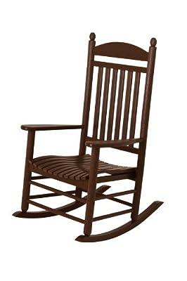 POLYWOOD J147MA Jefferson Rocking Chair Rocker, 34D X 26.5W X 47H, Mahogany