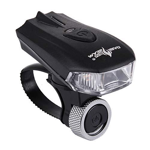 Tuzi Qoge Weiß Einfache LED-Fahrrad-Rücklicht Mi, Bike Night Lights Raincoat USB aufladbare 5 Manner Gelb, Fahrrad-Idle-Rücklicht QiuGe