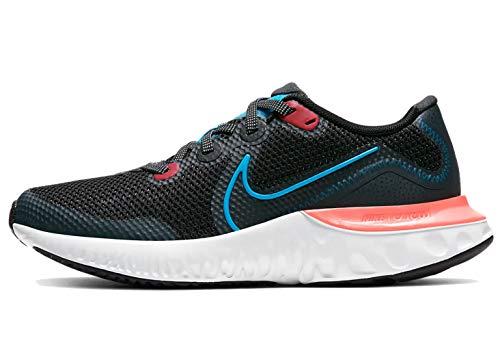Nike Unisex Renew Run (GS) Sneaker, Schwarz (Black/Light Lime-Smoke Grey 090), 40 EU