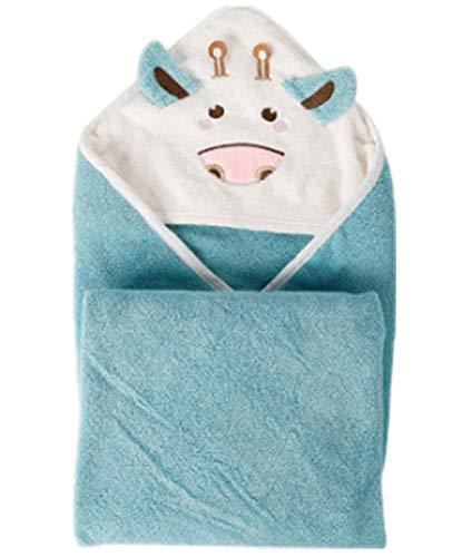 Toalla de baño para bebé, toalla con capucha-100% fibra de bambú toalla para bebé-80cm x 80cm-bebé o niño y niña (verde claro)