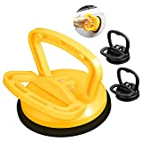 Large Suction Cup Dent Puller, Auto Dent Removal Tool,Powerful Glass Handle Lifter,Suction Cup Lifter for Car Dent Repair, Glass,Tiles, Mirror, Granite Lifting and Objects Moving(3 Pack) (Yellow)