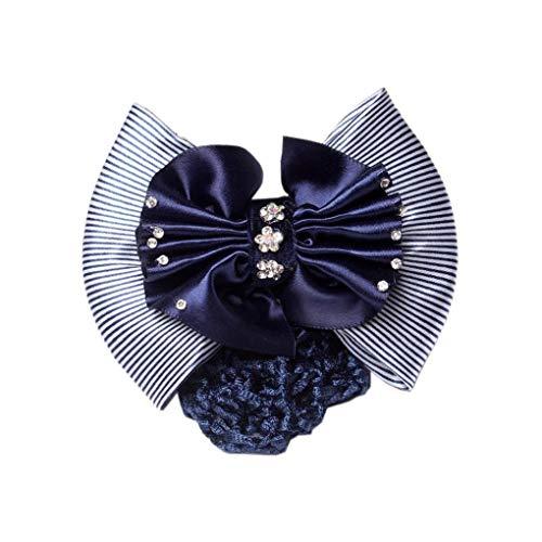 Accessoires De Cheveux Snood Net Femmes Two-Way Snood Net Bow Barrette Cheveux Clip Bun Cover Set