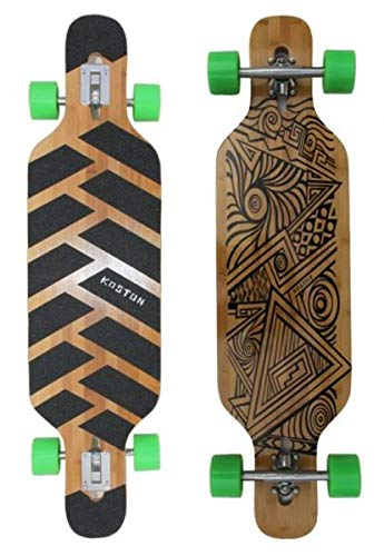 Koston Longboard Drop Through Komplettboard Cruiser Tian Jun 40.0 x 10.0 inch - Profi Dropthrough Longboard Drop Thru Carver
