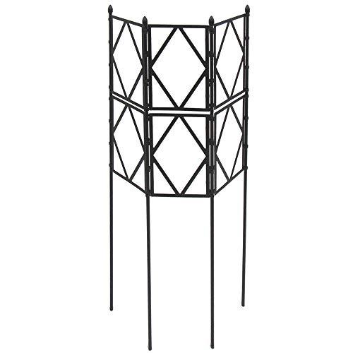 daim ローズトレリスワイド 幅120cm×高さ120cm/150cm/180cm 広げるだけ簡単設置 ( 薔薇 トレリス バラ ばら プランター ベランダ 園芸 第一ビニール ダイム) (幅60cm×高さ120cm)