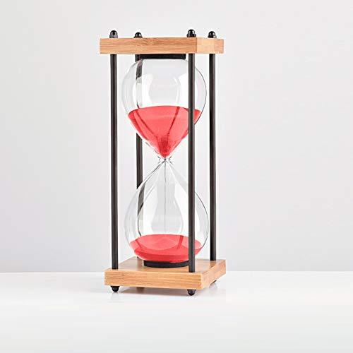 PLMM Reloj de Arena 30 Minutos temporizadores de Arena Reloj de Arena Decorativo de Cristal Asistente de Gestión del Tiempo,Regalo Creativo,Decoración de la Oficina de la Sala de Estar