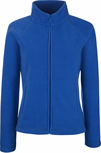 Fruit of the Loom - Lady -Fit Fleece Jacket Farbe Royal Größe M