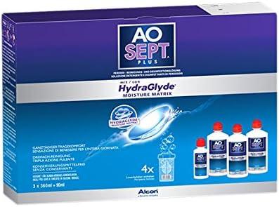AOSEPT Hydraglyde Pack 3 flacons de 360 ml + 1 flacon 90ml