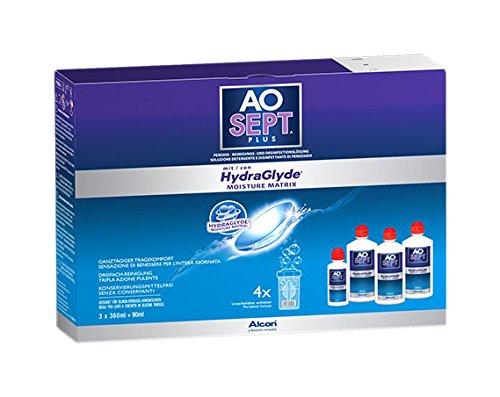 Aosept hydraglyde Pack 3Flaschen à 360ml + 1Flasche 90ml