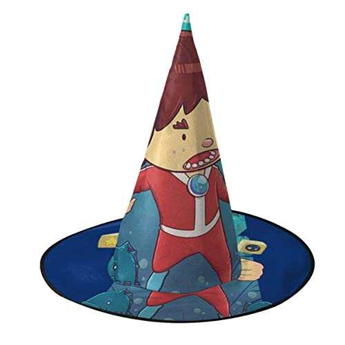 OJIPASD Alex Kidd In Miracle World - Sombrero de Bruja Unisex para...