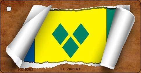 Koopje Wereld Sint Maarten Vlag Scroll Nieuwigheid Sleutelhanger (Met Sticky Notes)