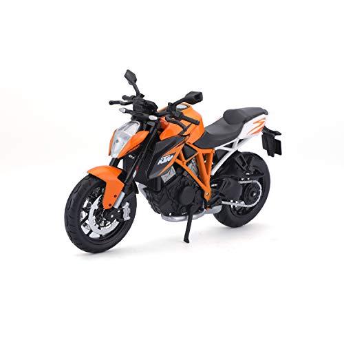 Bauer Spielwaren 2049745 KTM 1290 Super Duke R: Originalgetreues Motoradmodell, Maßstab 1:12, mit Federung und Seitenständer, orange -513065
