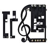 Gelentea - Afinador cromático para guitarra, sistema de aprendizaje de guitarra, solo tiene que operar botones y jugar a la guitarra de acordeón