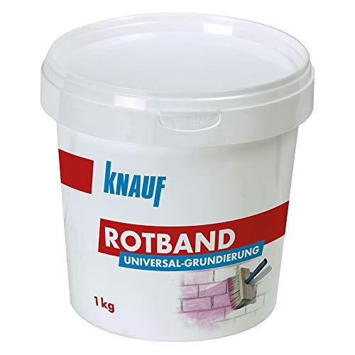 Knauf Rotband Universal-Grundierung, 1 kg – Putz-Grundierung, Haft-Grund für optimale Haftung von Grund-Putzen und Spachtel-Massen auf mineralischem Untergrund