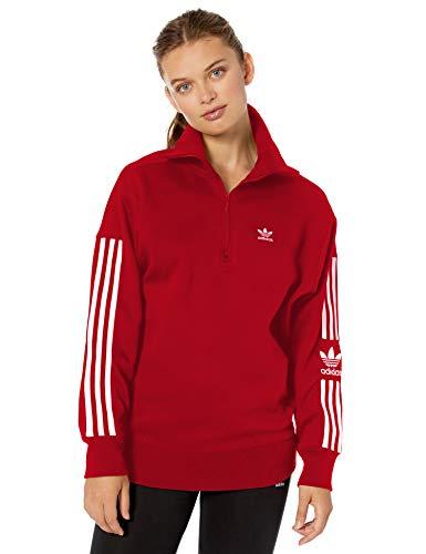 adidas Originals Damen Lock-up Sweatshirt Pullover, scharlachrot, X-Small