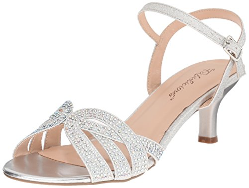 Pleaser Audrey 03, Damen Sandalen, Silber (Slv Shimmering Fabric), 41 EU (8 UK, 11 US)