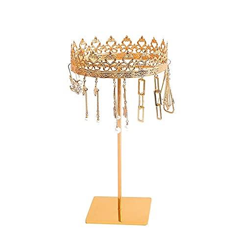 Soporte De Exhibición De Metal, Soporte De Joyería De Corona Creativa, Pendientes para El Hogar Colgante Joyería Organizador Stand (Color : B)