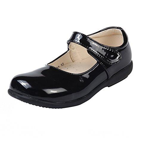 MK MATT KEELY Kinder Mädchen Flache Schulschuhe Schwarz Mary Jane Prinzessin Schuhe Lackleder Wanderschuhe