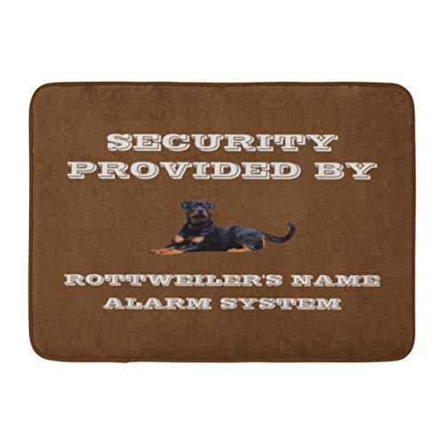 Sunny R Rottweiler Raza de Perro Protección de la Casa Seguridad Entrada Duradera Felpudo Respaldo Antideslizante Alfombra de Bienvenida Suave Interior Al Aire Libre 15.7×23.5 Pulgadas