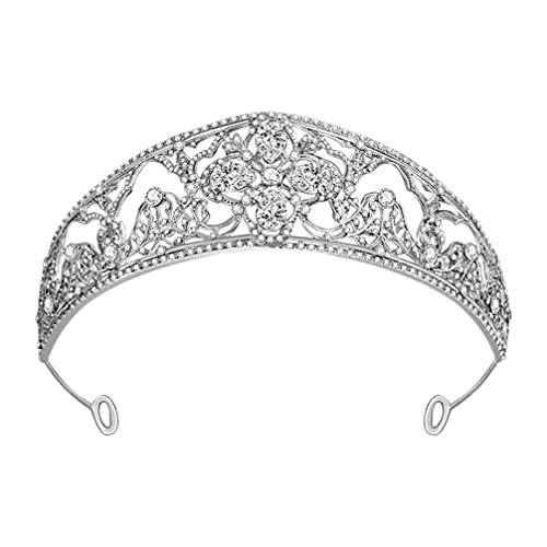 SOLUSTRE de Novia con Joyería Brillante Elegante Tiara Delicada Princesa Diamante de...