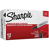 12-Pack Sharpie Chisel Tip Permanent Markers
