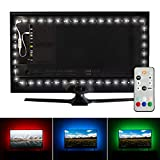 Luminoodle Professional Bias Lighting for HDTV | 6500K True White + 15 Color LED TV Backlight with Remote | USB Lights Strip Kit for Home Theater Ambient Lighting - Pro - Large (30' - 40' TV)
