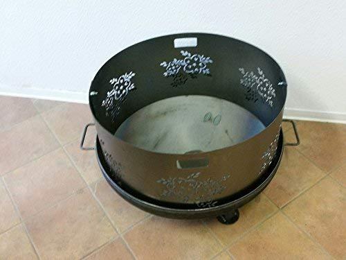 Czaja Stanzteile Funkenschutz mit Blumenmotiv für alle Feuerschalen Ø80cm