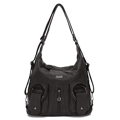 KL928 Große Geldbörsen und Handtaschen, weiches Leder, Nylon, Hobo-Schultertaschen für Damen