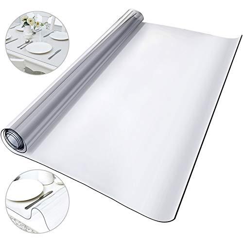 VEVOR Mantel Transparente de PVC 1170 x 1830 x 1,5 MM Mantel de Plástico Transparente Plástico Grueso Impermeable para Mesa Cocina Mantel Transparente Rectangular Resistente al Agua Antimanchas