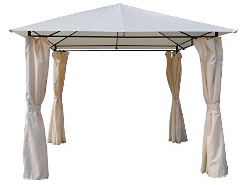 habitatetjardin Cenador-Pergola Shana Beige en Poliester 3 x 3 x 2.6 m