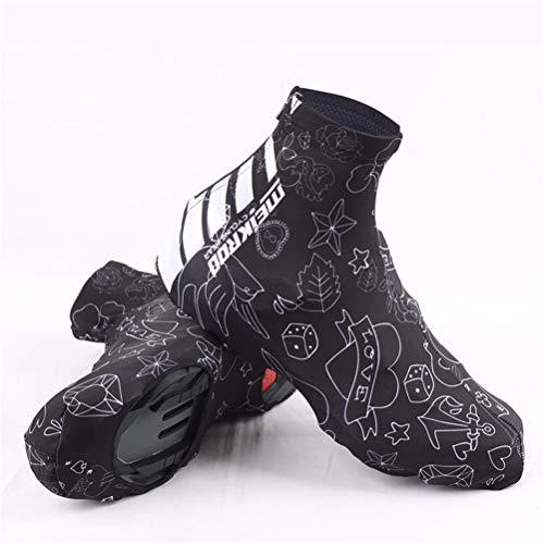 LBPF Cubiertas para zapatos de ciclismo para hombres y mujeres, botas de ciclismo de carretera, impermeables, impermeables, impermeables, para deportes al aire libre, M