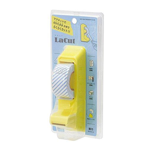 サンスター文具 マグネット付き テープカッター ラカット イエロー S4832450