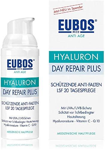 Eubos | Hyaluron Day Repair Plus LSF 20 | 50ml | Anti Falten Tagescreme für trockene und alle Hauttypen | Wirksamkeit und Verträglichkeit dermatologisch bestätigt