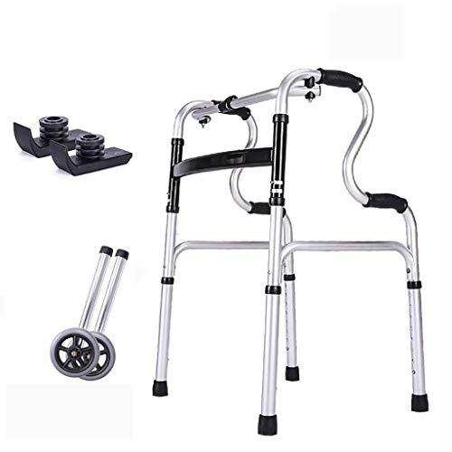 LXDDJZXQ Gehhilfe Gehgestell, Leichter Gehhilfe-Gehhilfe-Gehhilfe aus Aluminium mit Rädern