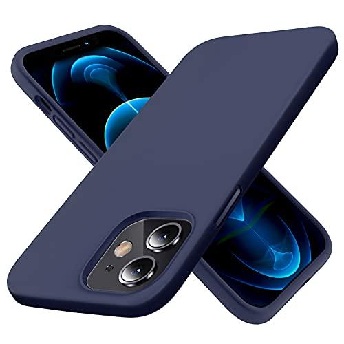 Elando Silikon hülle Kompatibel mit iPhone 12 & iPhone 12 Pro, Superdünne, Stoßfeste Handyhülle aus Flüssigem Silikon, mit Kratzfreiem Mikrofaser-Innenfutter