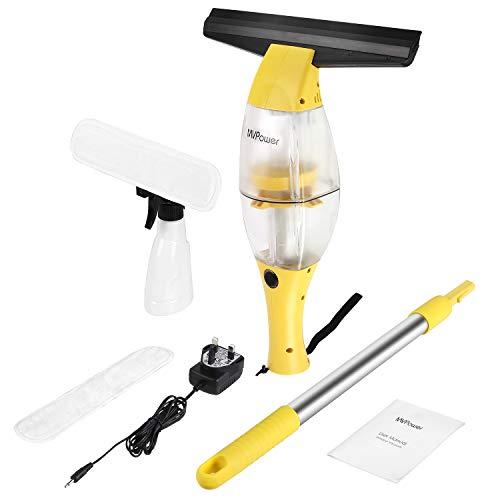MVPower Window Vac, Streak-Free 10W Telescopic Window Vacuum Cleaner Set,...