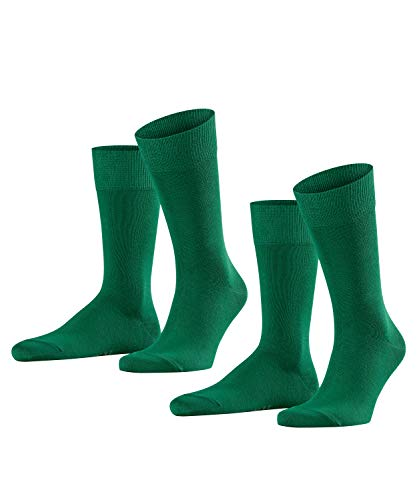 FALKE Herren Happy 2-Pack M SO Socken, Blickdicht, Grün (Golf 7408), 43-46 (2er Pack)