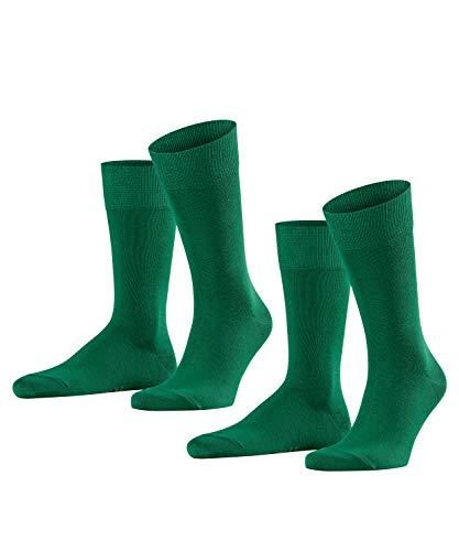 FALKE Herren Happy 2-pack M Socken, Grün (Golf 7408), 43-46 EU