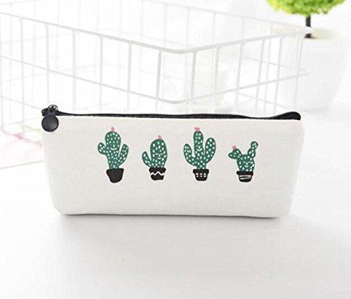 dahanbl cuatro Cactus patrón estuche de lona estuche escolar para estudiantes y oficina empleado: Amazon.es: Hogar