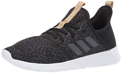 adidas Women's Cloudfoam Pure Running Shoe, Black/Grey/Black, 9.5 Medium US
