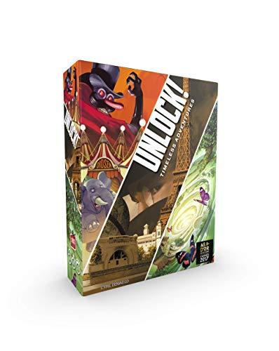 Asmodee Italia- Unlock Timeless Adventures Escape Room Tisch-Edition komplett in Italien hergestellt, Farbe 8985