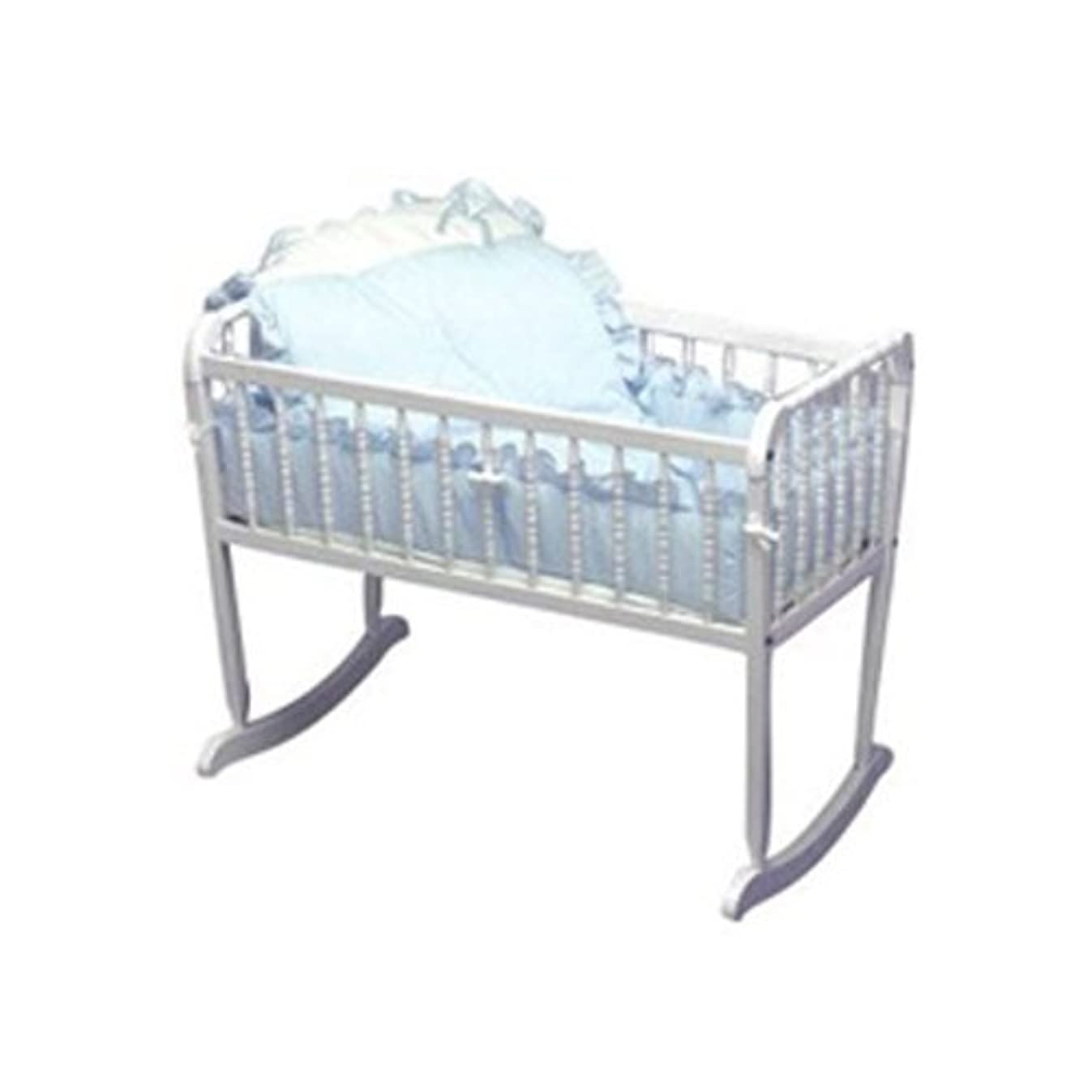 Baby Doll Bedding Pretty Pique Cradle Set, Blue